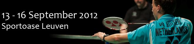 Bezoek aan het Belgisch Yonex Internationaal Kampioenschap 2012