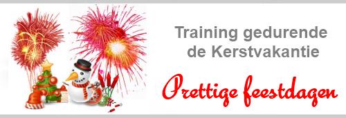 Trainingen gedurende de feestdagen