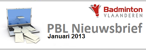 Nieuwsbrief PBL januari 2013